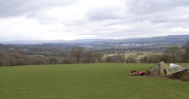 View from Whalley Nab to Hambledon Hills