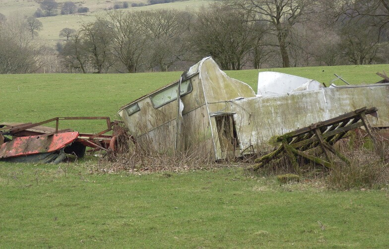 caravan wreckage