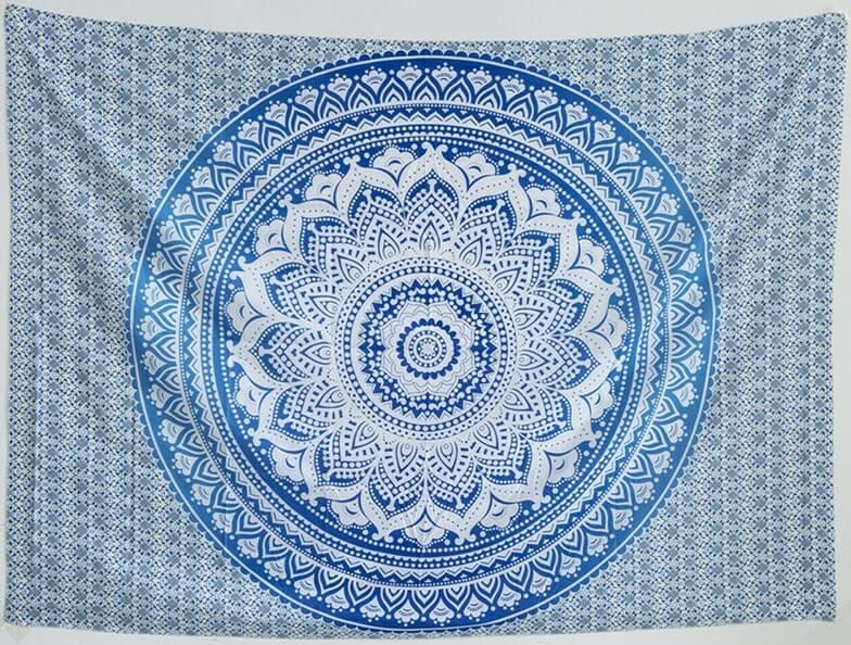 A blue mandala wall hanging